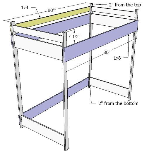 Best How To Build A Loft Bed Decoracion De Muebles Camas 640 x 480