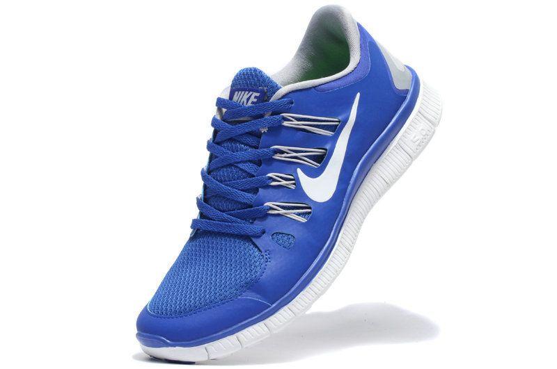 Nike Free 5.0 Men's Running Shoes - Blue/White - Sz 10