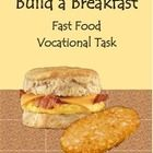 Build a Breakfast is a real image food task to help students learn a realistic skill of fast food customer service.  Students will use the visual i...
