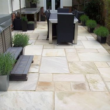 Indian Sandstone From Spooners Turf: One Of Our Patios Using Fossil Mint  Coloured Indian Sandstone Quality Paving   Modern Patio