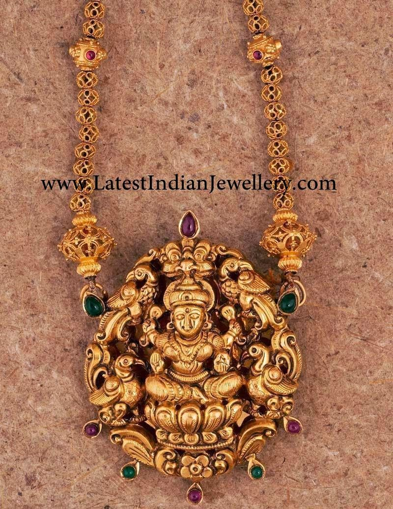 Temple jewellery with nakshi pendant temple pendants and jewel temple jewellery with nakshi pendant mozeypictures Choice Image
