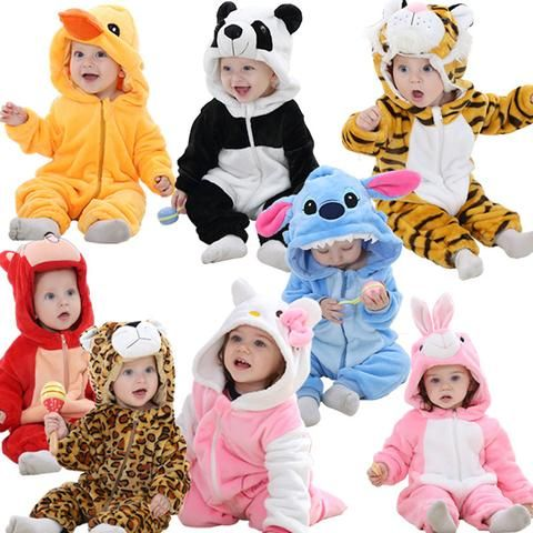 1b1427fe6 Baby Animal Romper Warm Baby Onesie Cute Rompers