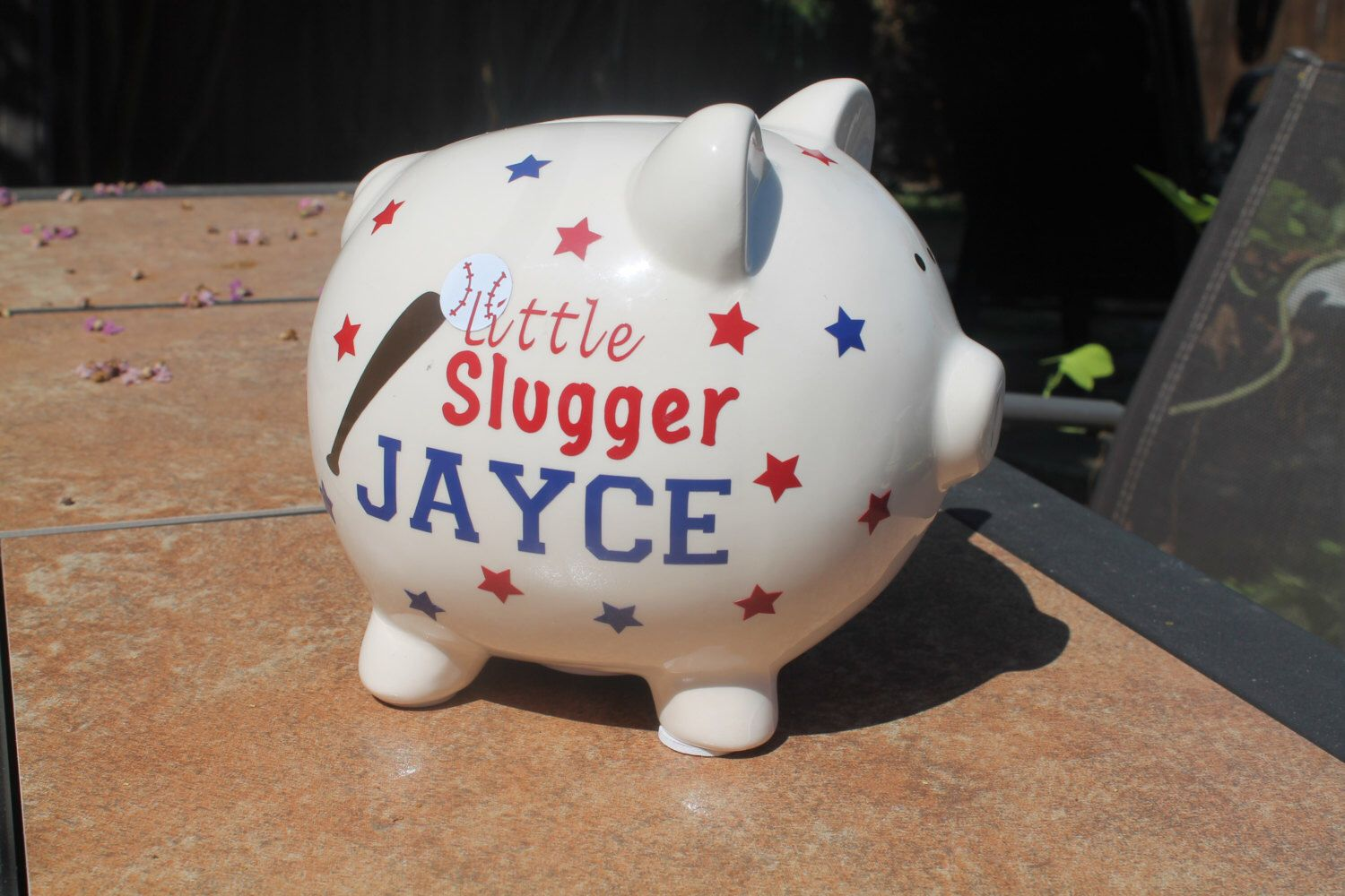 Small piggy bank ceramic personalized in vinylbaby giftkids small piggy bank ceramic personalized in vinylbaby giftkids birthday gift college negle Choice Image
