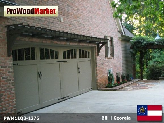Garage Door Pergola Can Grow Flowering Vines Garage