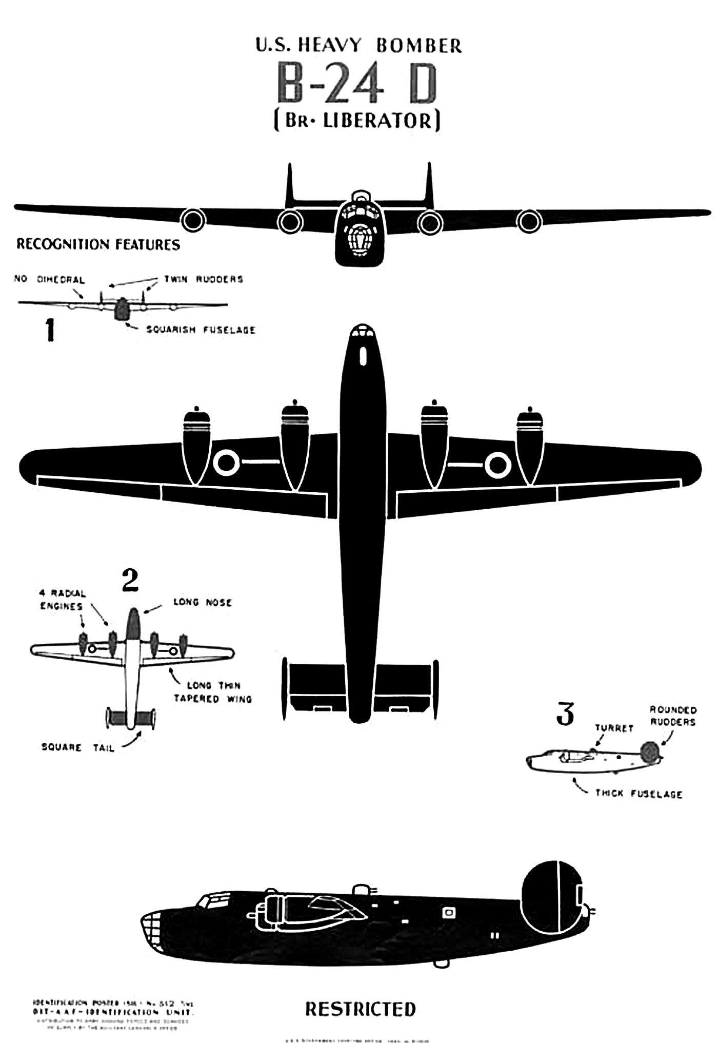 B 24 Liberator Pop S Plane Wwii