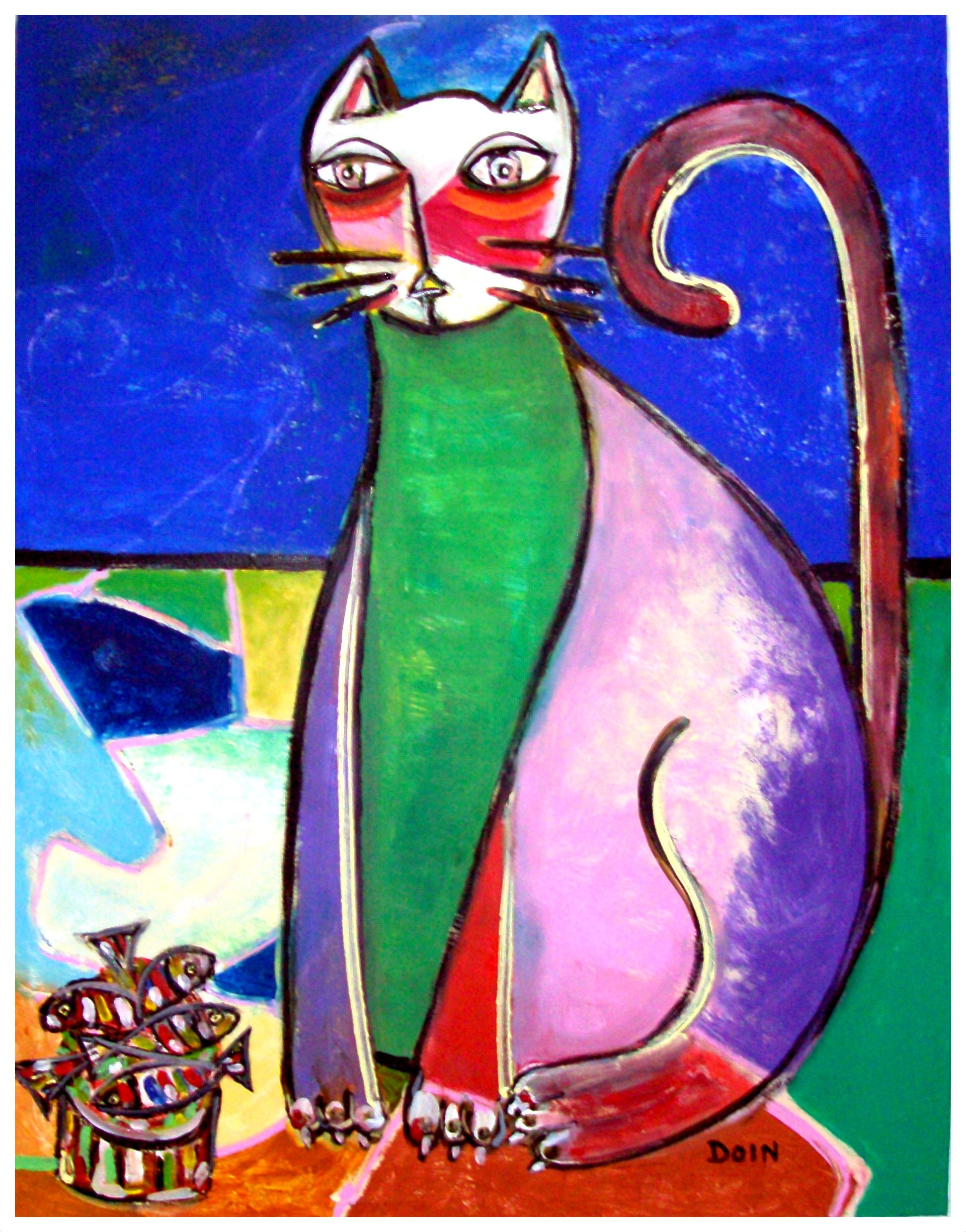 o.s.t. - 75 cm x 97 cm - o gato