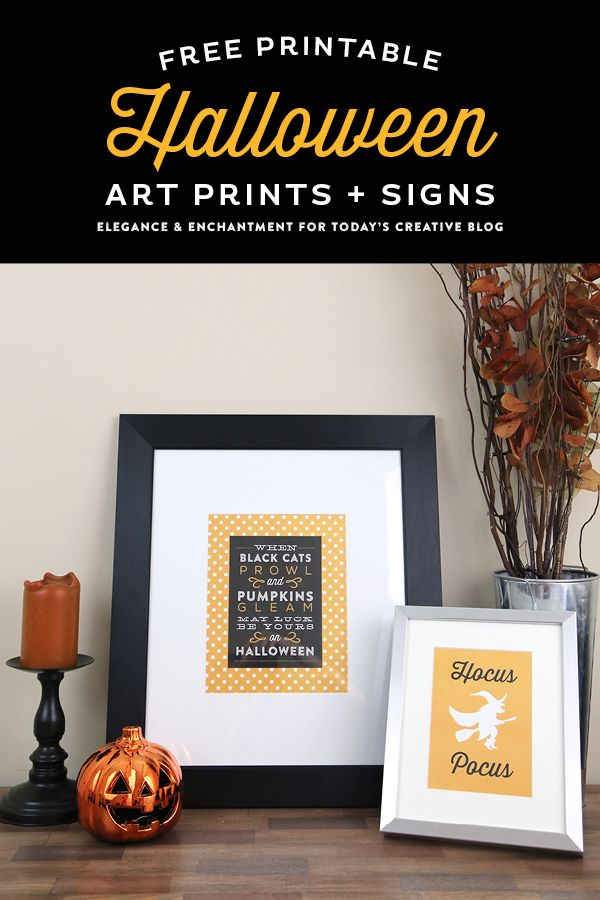 Free Printable Halloween Art Prints and Signs - six different - when should you decorate for halloween