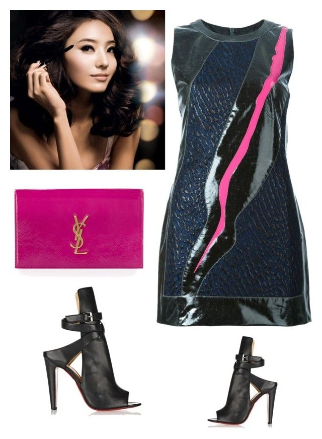 """""""M8"""" by mashalykova ❤ liked on Polyvore featuring Ready to Fish by Ilja, Yves Saint Laurent, Christian Louboutin, women's clothing, women's fashion, women, female, woman, misses and juniors"""