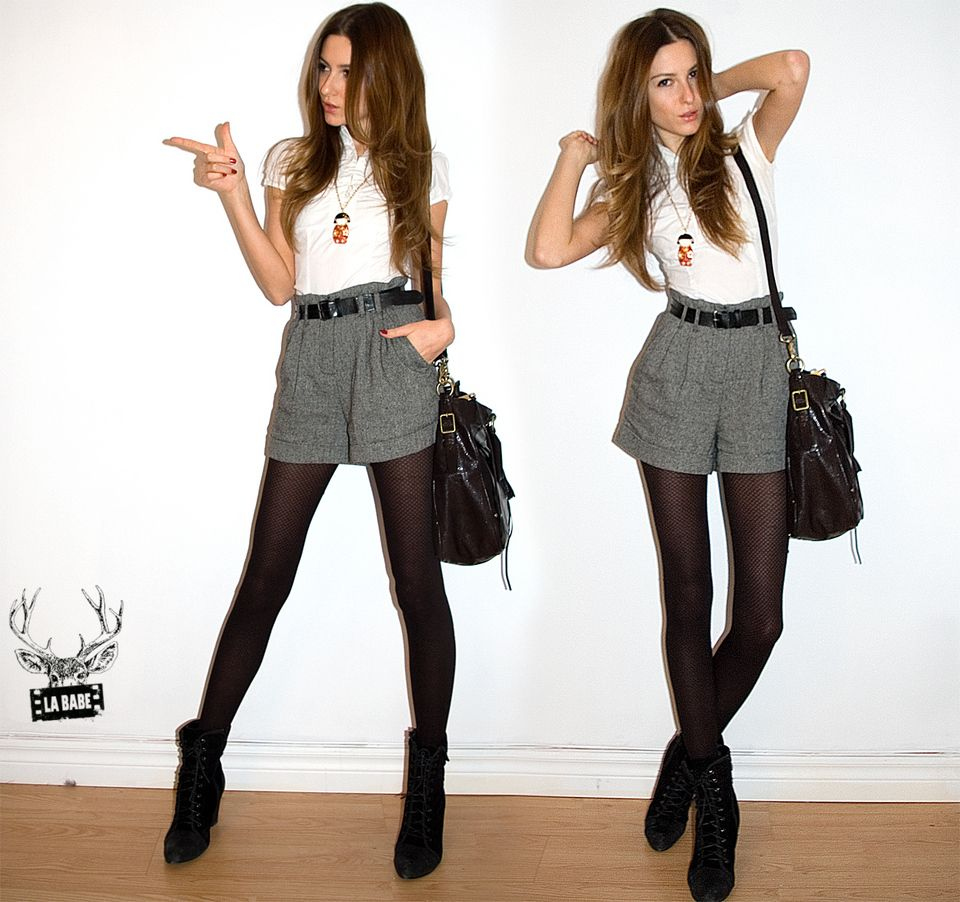 high waisted shorts | What to wear with high waisted ...