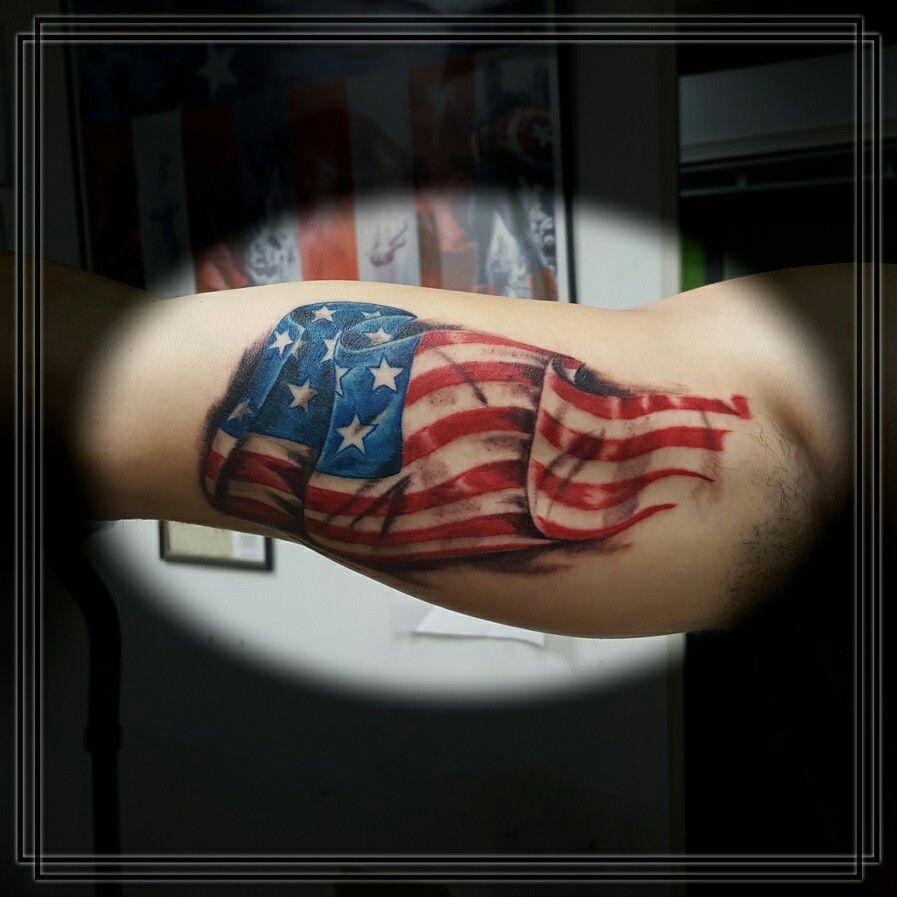 American Flag Tattoo American Flag Tattoo Tattoos Cover Tattoo