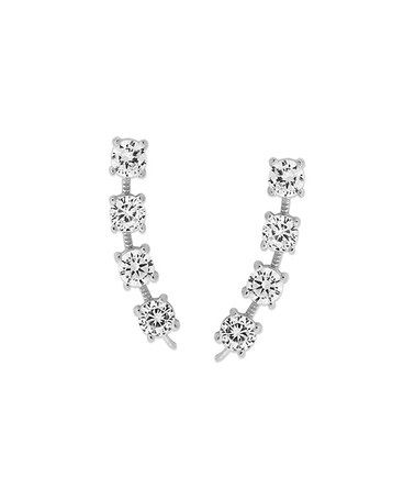 This Cubic Zirconia & Sterling Silver Bold Ear Pins® is perfect! #zulilyfinds