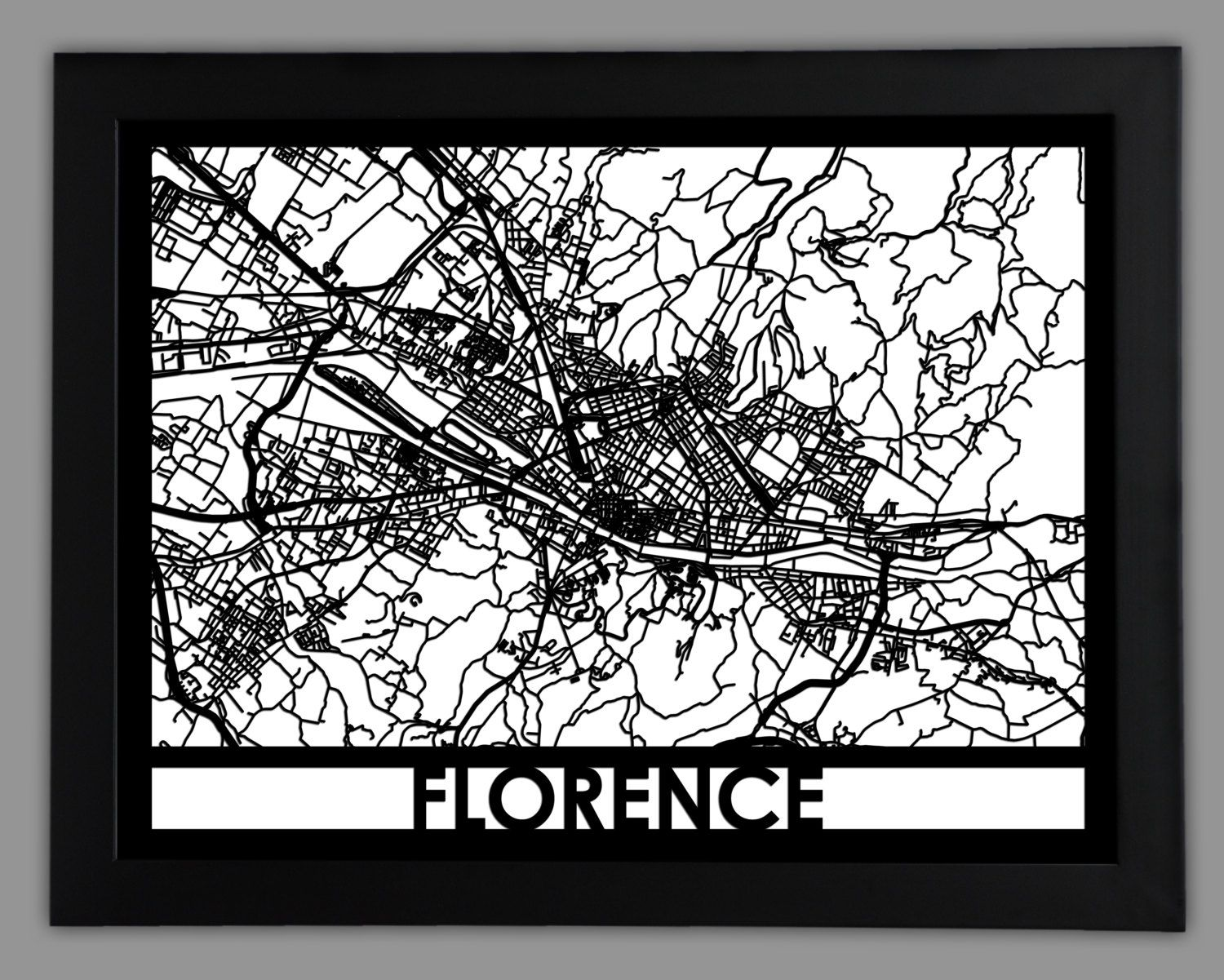 Florence laser cut map 18x24 framed city map city wall art florence laser cut map 18x24 framed city map city wall art amipublicfo Choice Image
