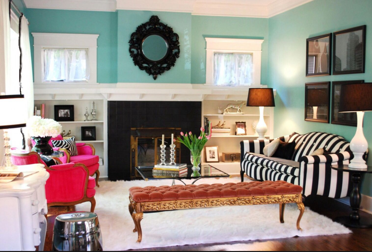 For the love of stripes chic apartment decor pinterest