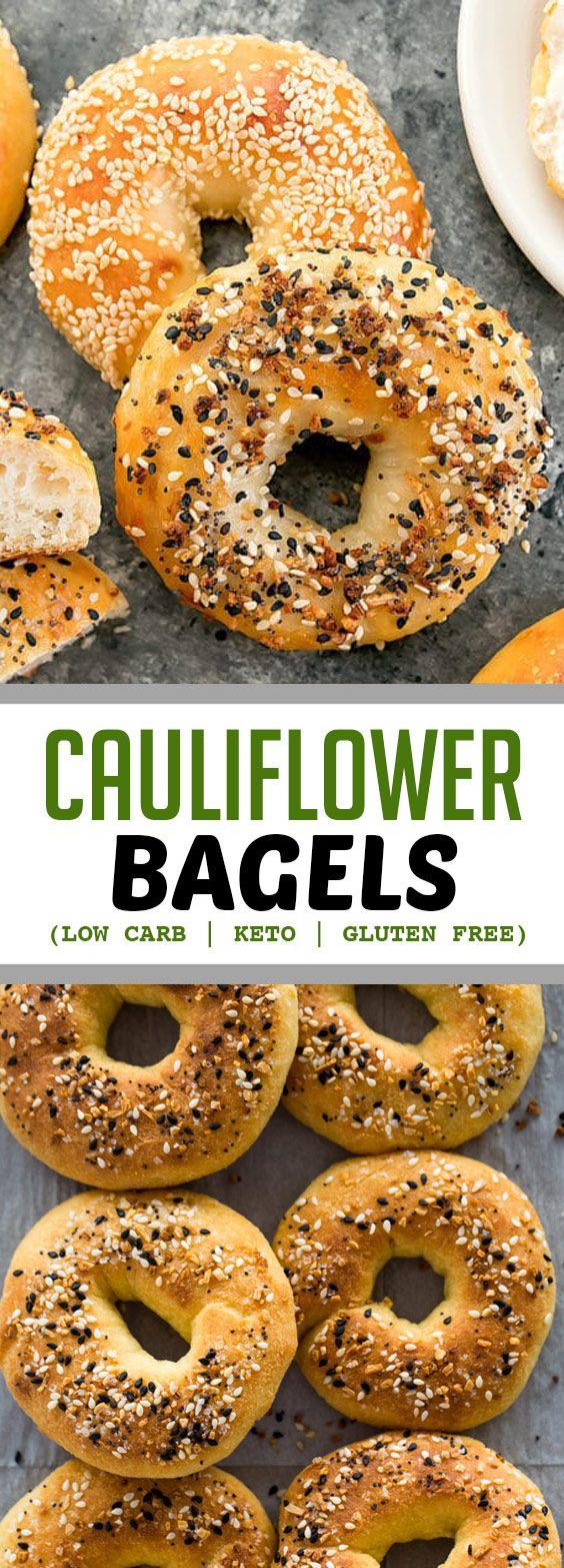 Cauliflower Bagels Low Carb Keto Gluten Free Crusty Chewy