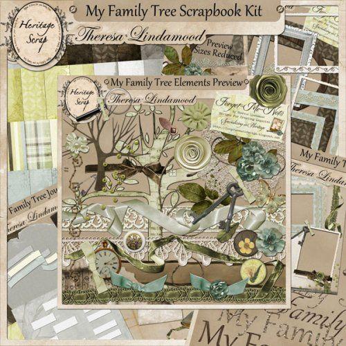 My Family Tree Scrapbooking Kit | Family tree book, Family ...