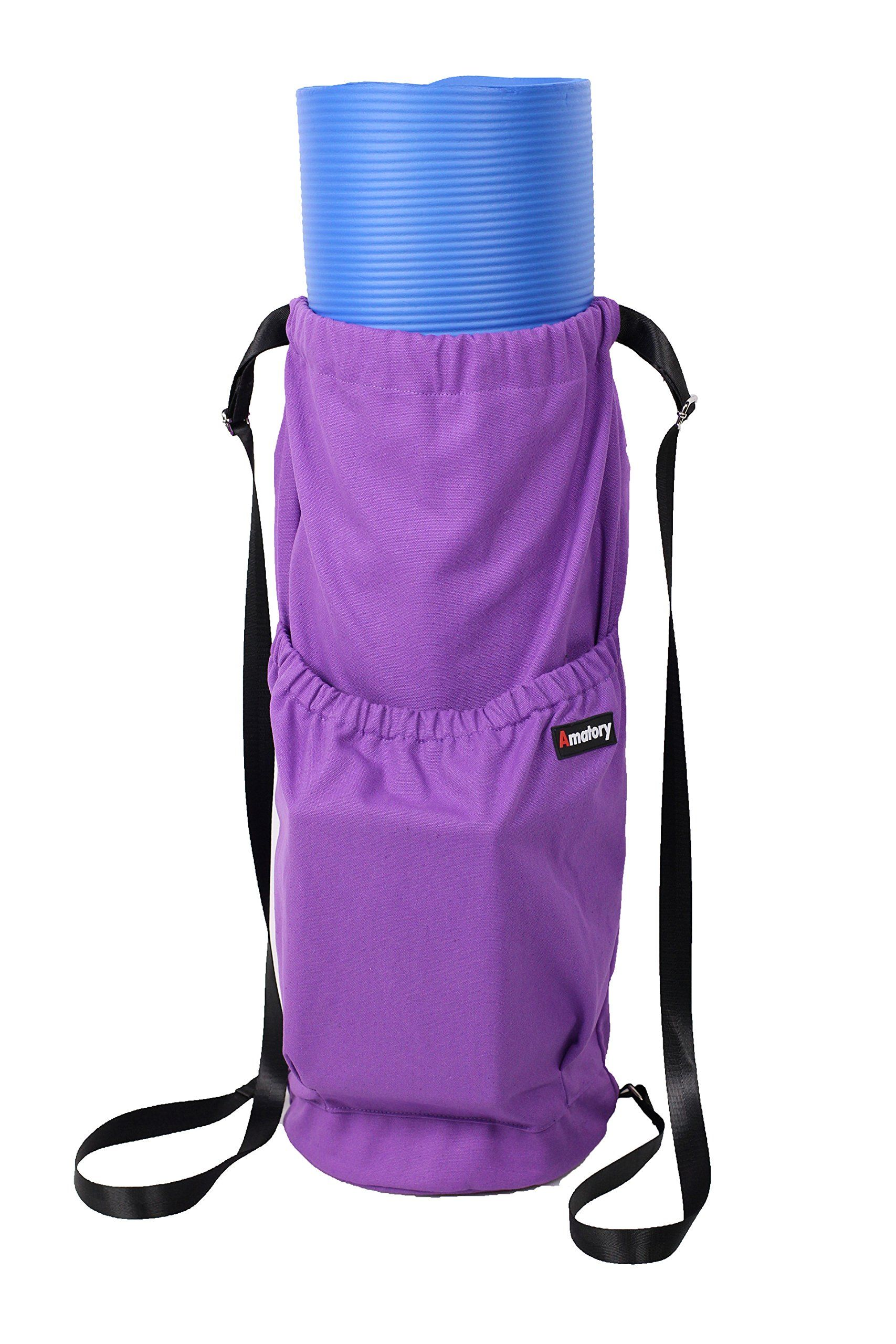 ed4de902a3a6 Yoga Mat Drawstring Bag Exercise Mat Carrying Bag (Purple). Large Room