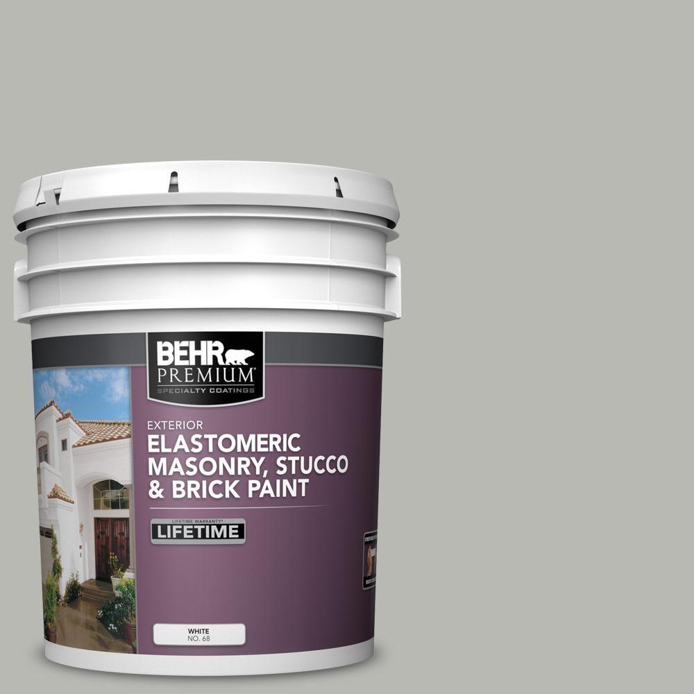 BEHR Premium 5 gal. #PPU18-11 Classic Silver Elastomeric Masonry, Stucco and Brick Exterior Paint images