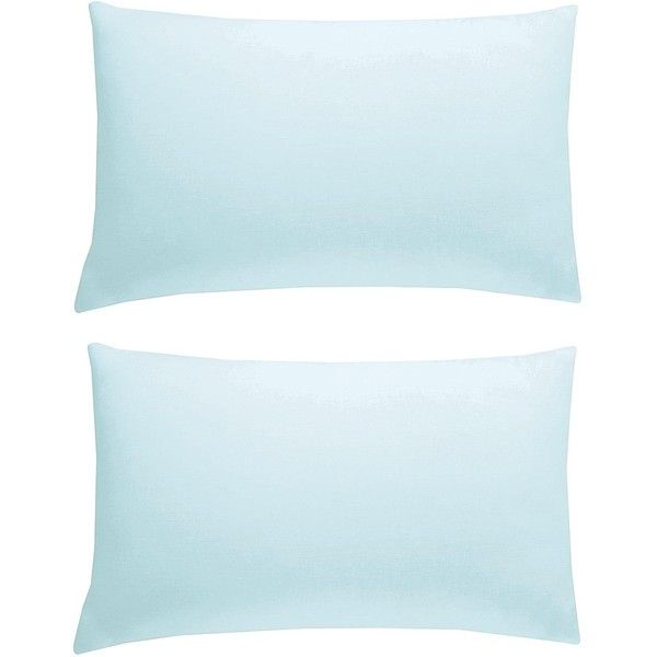 Egyptian Cotton 200 Thread Count Standard Pillowcases (Pair) ($7.49) ❤ liked on Polyvore featuring home, bed & bath, bedding, bed sheets, plain white bedding, couple pillow cases, plain white pillowcases, couple pillowcases and egyptian cotton pillowcases