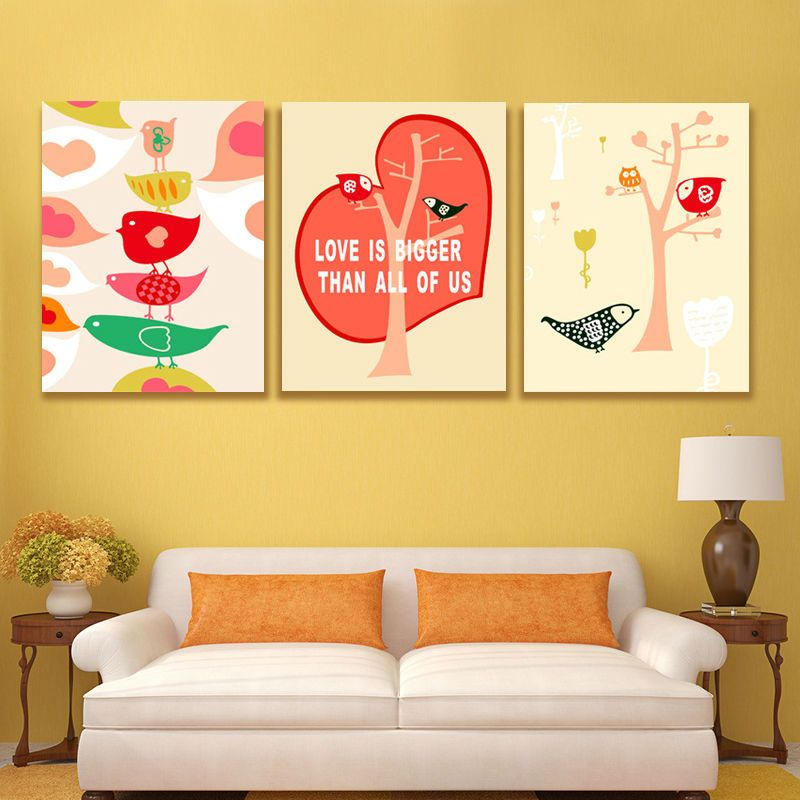 Upcoming arriving diy oil painting Love bird wall pictures for ...