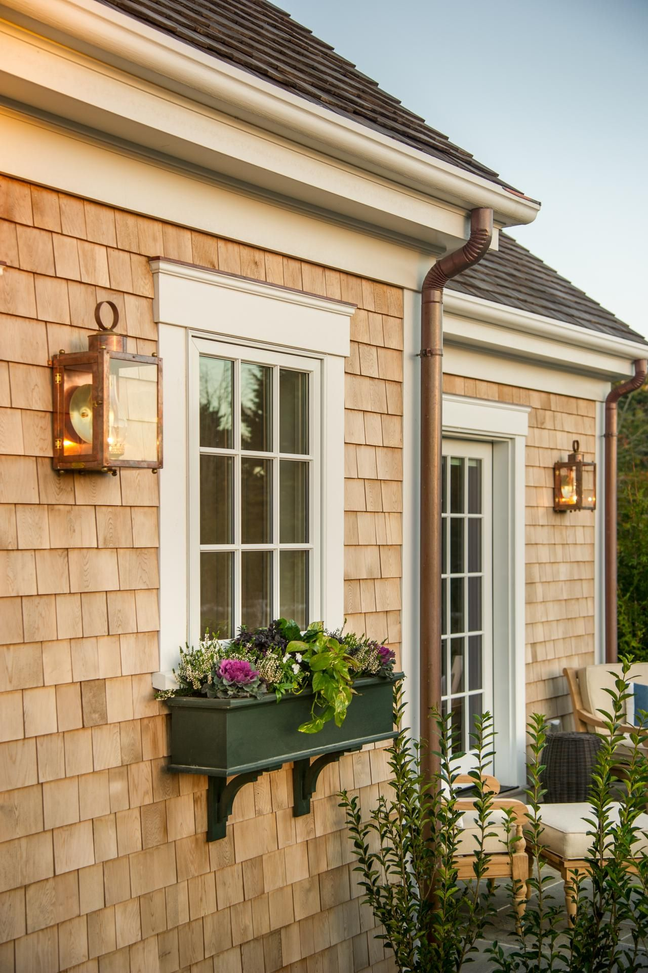 Dream Home 2015 Garage Window Box And Cedar Siding