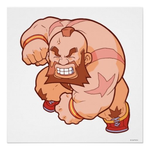 Pocket Fighter Zangief 2 Posters - Street Fighter fan art - $20.00
