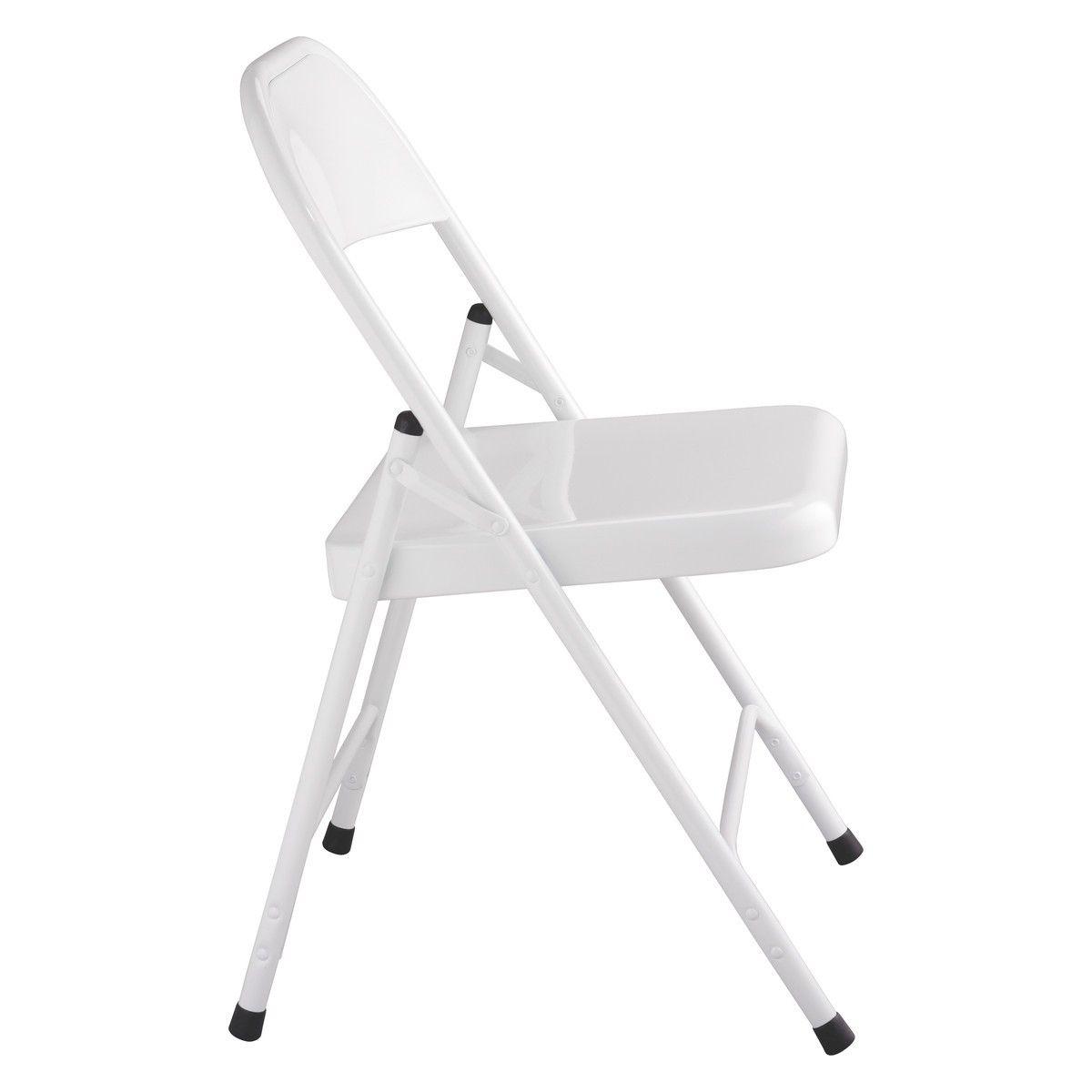 White Metal Folding Chairs macadam white metal folding chair | buy now at habitat uk