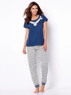 Pijama 2 piezas mujer punto 100% algodón