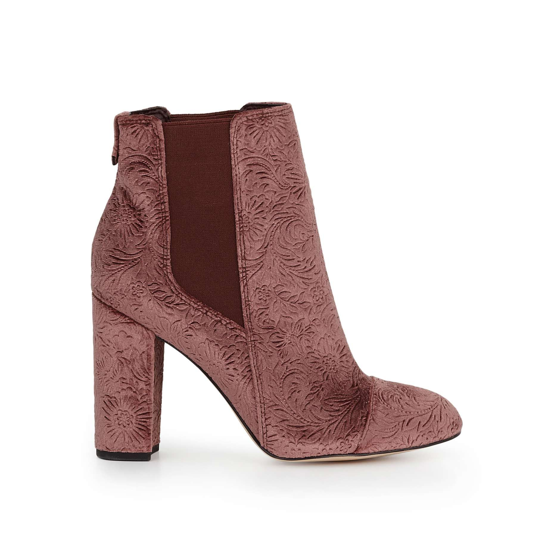 dfffad77e76908 Case Ankle Bootie by Sam Edelman - Wine Embossed Velvet - View 2