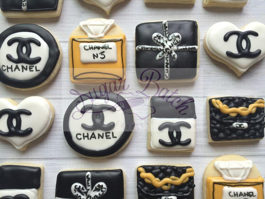 2 Dozen Mini Chanel Cosmetics Themed Cookies