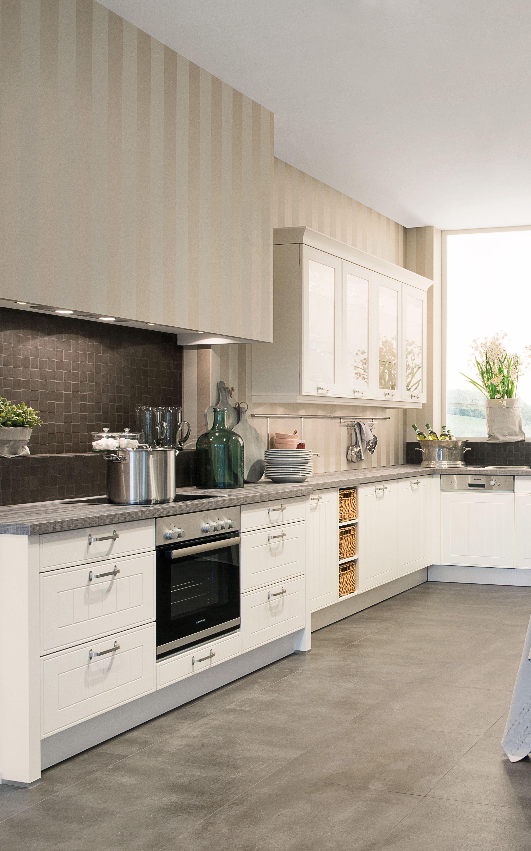 Magnolie Küchenschrank   Kuche Creme Grau   Küchen Studio