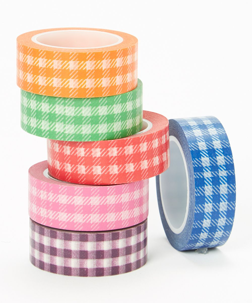 Gingham galore washi tape set dangerous love these great for so many diy projects a - Porcelana celos ...
