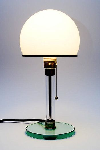 The Wagenfeld Lamp Colour Objects Pinterest Glass Design
