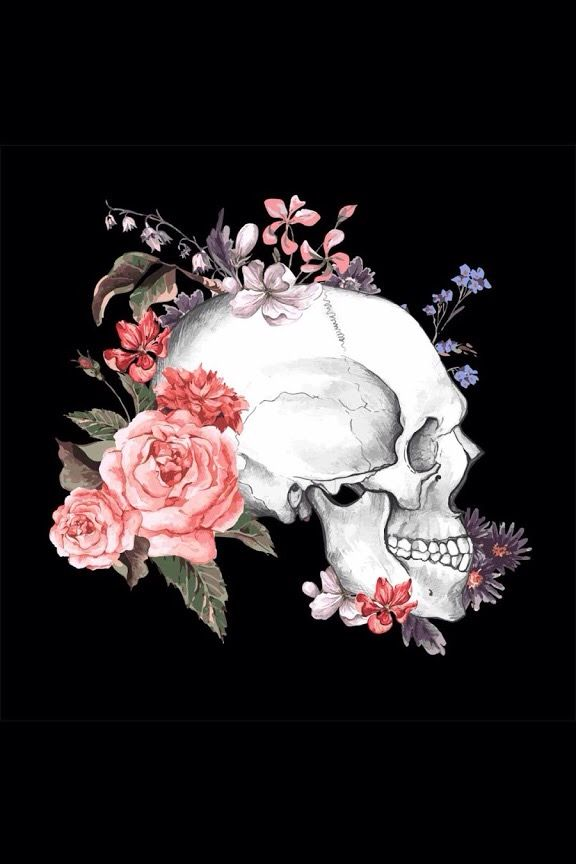 Skull & flowers | Skeleton + Skull + Bones | Pinterest ...