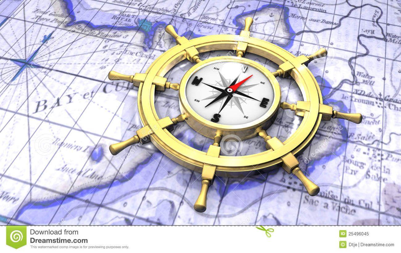 ship's wheel compass - Google Search