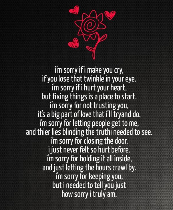 Sorry Poems For Hurting Her Cute Love Quotes For Her