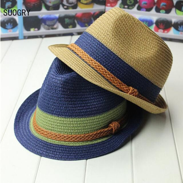 Check lastest price Summer Hats Hemp Rope Patchwork Striped Straw Sunhats  For Women Men Summer Straw Hats Beach Visor Caps Panama Hat 2017 just only   5.13 ... 3621282046c