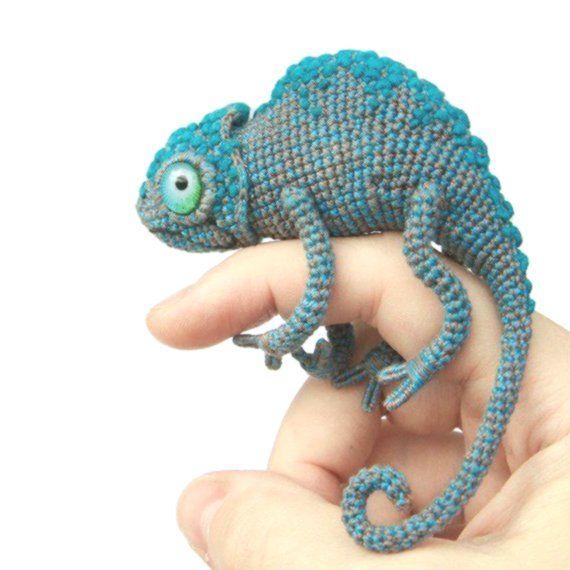 DK  Knitting Pattern Soft Toy Animal Chameleon