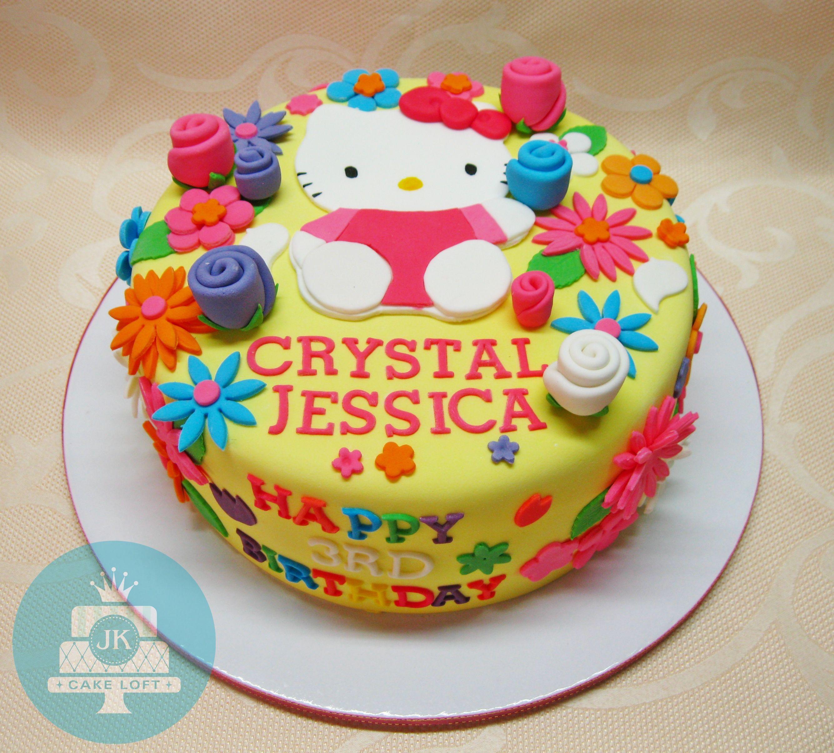 Surprising Hello Kitty Cake Happy Birthday Crystal Jessica Cake Kids Cake Funny Birthday Cards Online Alyptdamsfinfo