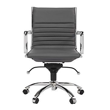 Sleek And Modern Malcolm Office Chair In Grey 259 00 Office