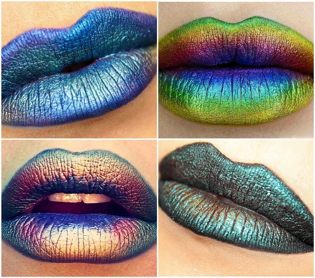 oil slick lips