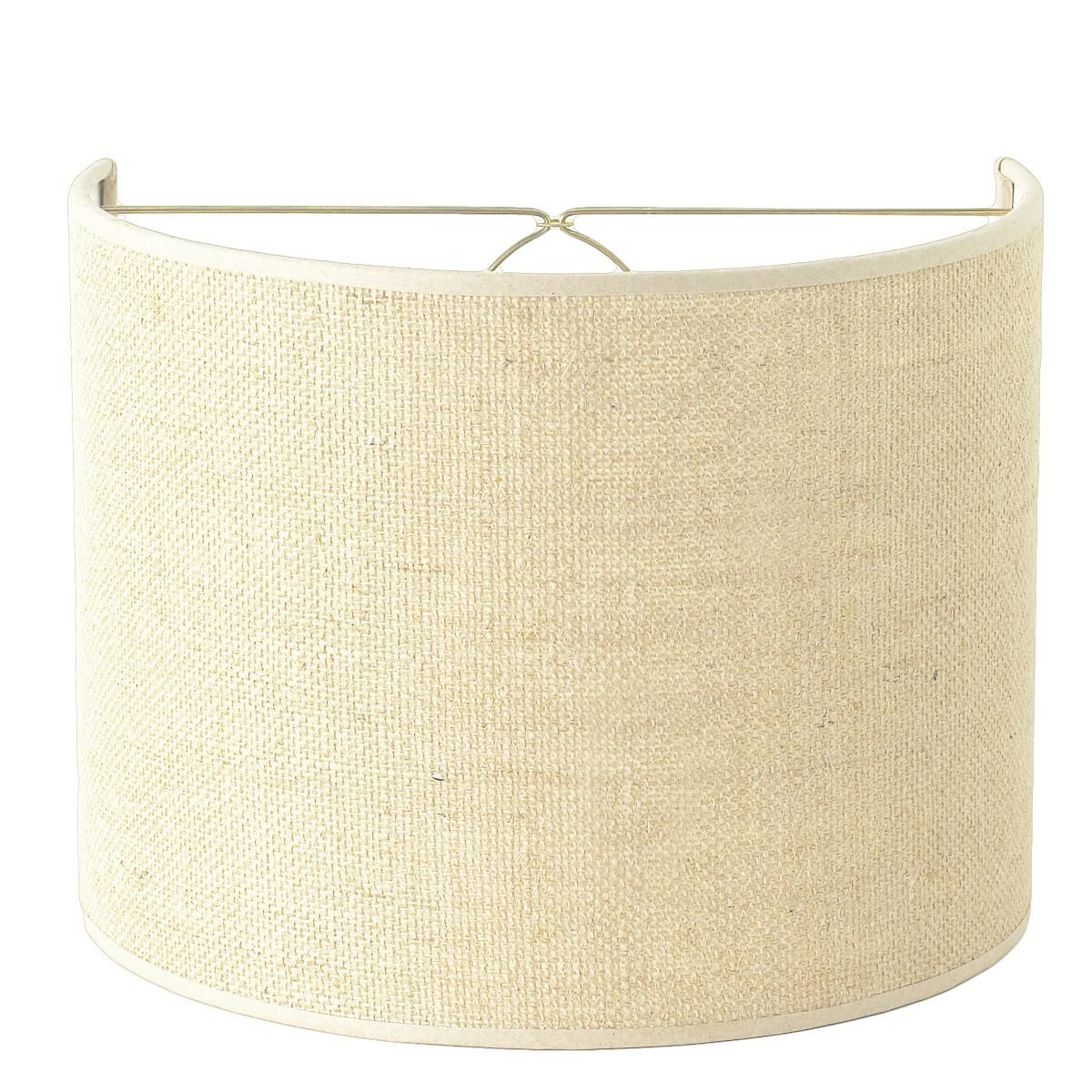 10 Burlap Shield Shade With Bulb Clip 2 Colors Wall Lamp