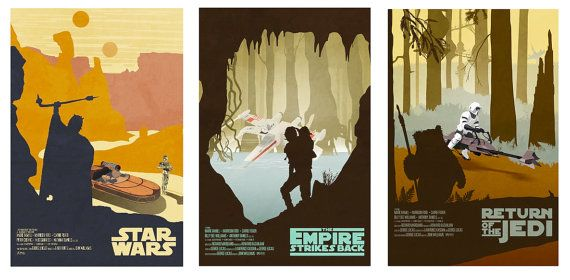 Star Wars Original Trilogy Poster Collection by LynxCollection, $49.95