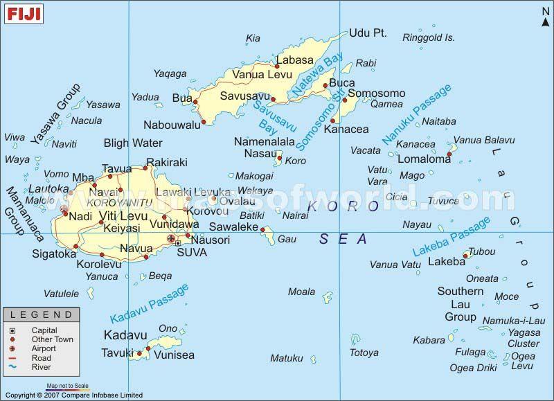 Cool Map Of Fiji Travelquaz Pinterest Fiji And Destinations - Fiji map