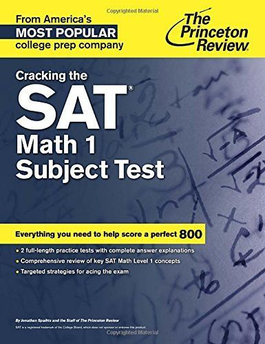Cracking The Sat Math 1 Subject Test College Test Preparation
