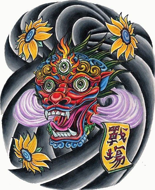 traditional Asian Chinese Japanese tattoo design clouds 3