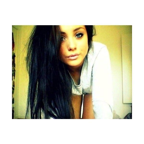 Girl Black Hair Tan Pretty Brunette Liked On Polyvore Pretty