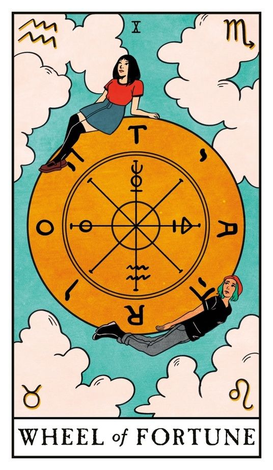 The Wheel of Fortune - Modern Witch Tarot, an art print by Lisa Sterle #modernwitch
