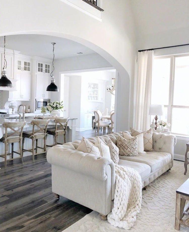 80 Awesome Modern Farmhouse Staircase Decor Ideas: Farm House Living Room, Grey Couch