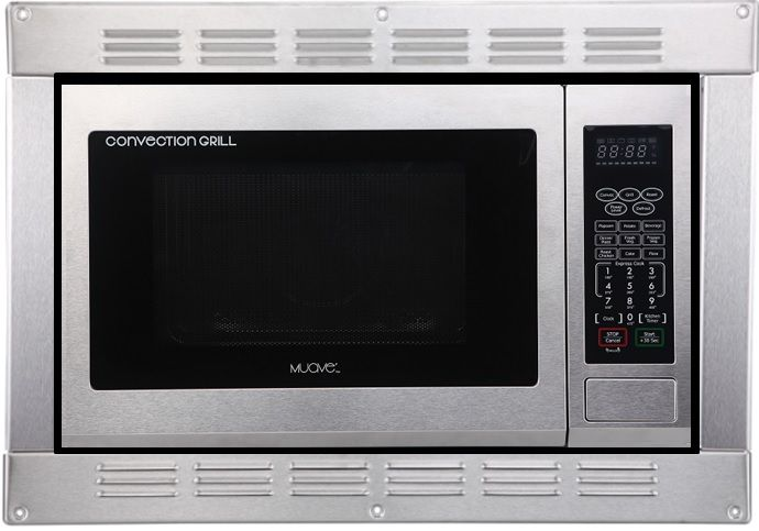 Muave Rv Microwave Convection 120v Cul Stainless Steel With Built In Trim Kit