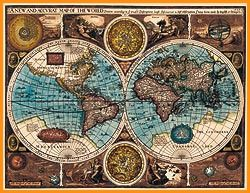 Antique map poster [A NEW AND ACCVRAT MAP OF THE WORLD] - prints - maps, antique maps, old maps, world map